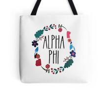 Alpha Phi Flower Wreath Tote Bag