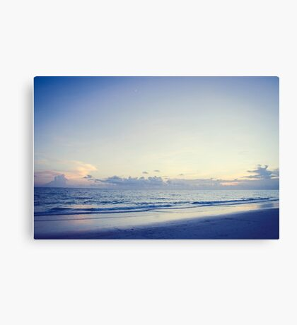 At Dusk with The Moon Canvas Print