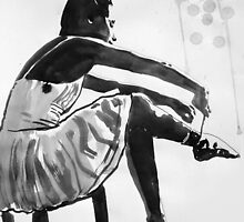 dancer preparing by Loui  Jover