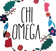 Chi Omega Flower Wreath by Margaret Young