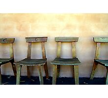 Wooden Chairs Photographic Print