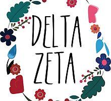 Delta Zeta Flower Wreath by Margaret Young