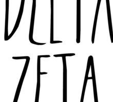 Delta Zeta Flower Wreath Sticker