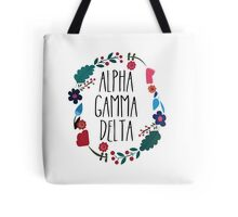 Alpha Gamma Delta Flower Wreath Tote Bag