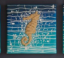 Beach Holiday Triptych by Ann Douthat