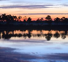 Sunrise on Webb Lake by Kim McClain Gregal