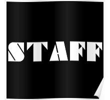 STAFF - White Poster