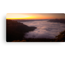 Cloud Surfing - Blue Mountains World Heritage Area, Sydney (15 Exposure HDR Panorama) - The HDR Experience Canvas Print