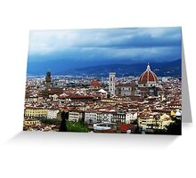 Storm in Florence Greeting Card