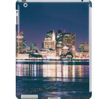 Boston skyline in color iPad Case/Skin