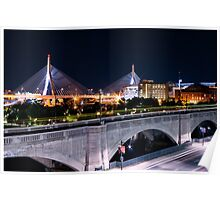 Zakim Bride from Museum of Science 1 Poster