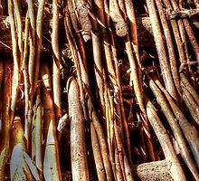 texture of wicker, wicker brace by Hujer