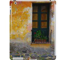 Old window with a plant in Colonia del Sacramento, Uruguay iPad Case/Skin