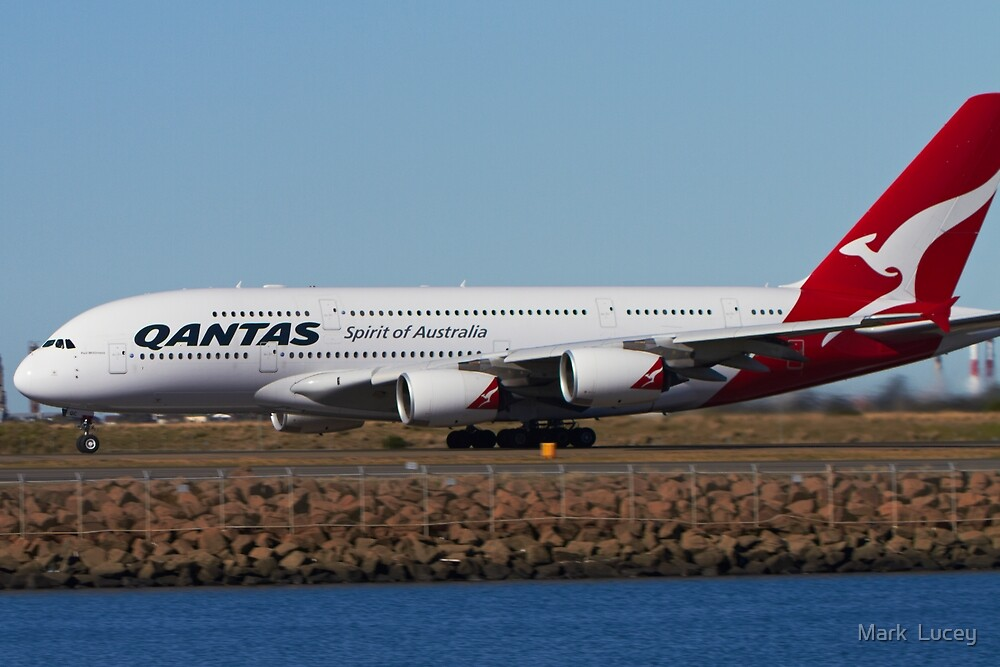 Qantas A380 by Mark  Lucey