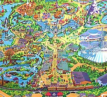 Disneyland Map by jlie3