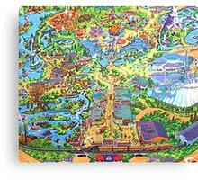 Disneyland Map Canvas Print