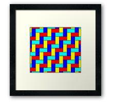 Vintage Multicoloured Pattern Framed Print