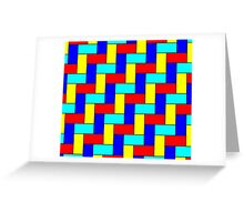 Vintage Multicoloured Pattern Greeting Card