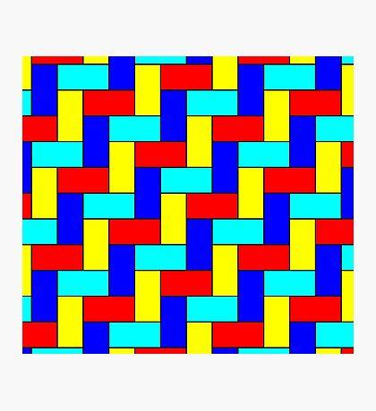 Vintage Multicoloured Pattern Photographic Print