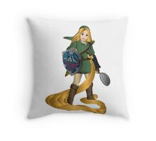 rapunzel link Throw Pillow