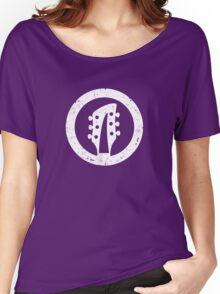 Rickenbacker 360 Headstock, White Women's Relaxed Fit T-Shirt