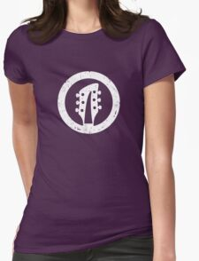 Rickenbacker 360 Headstock, White Womens Fitted T-Shirt