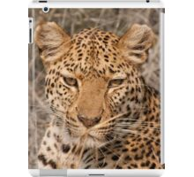 Leopard in your face iPad Case/Skin