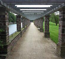 Pergola Pillar Pathway by Vandarque