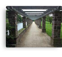 Pergola Pillar Pathway Canvas Print