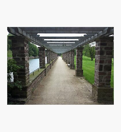 Pergola Pillar Pathway Photographic Print