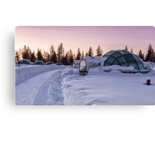 Home Is a Glass Igloo Canvas Print