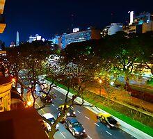 Buenos Aires by Night by Atanas Bozhikov NASKO