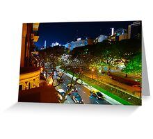Buenos Aires by Night Greeting Card