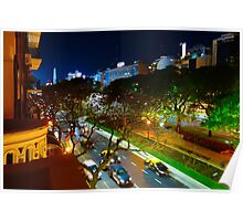 Buenos Aires by Night Poster