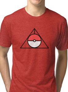 HP and The Deathly Pokeball Tri-blend T-Shirt