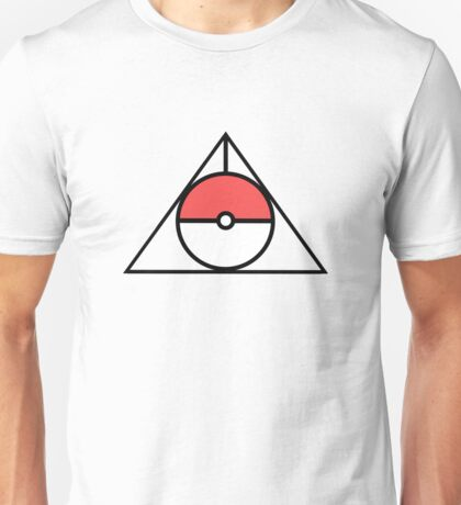 HP and The Deathly Pokeball Unisex T-Shirt