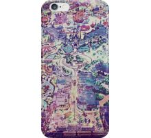 Galaxy Vintage Disneyland Map iPhone Case/Skin