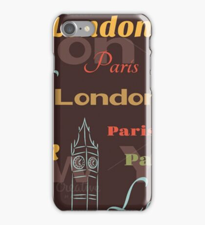 Cities Pattern iPhone Case/Skin