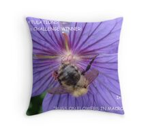 Bugs On Flowers In Macro Banner Throw Pillow