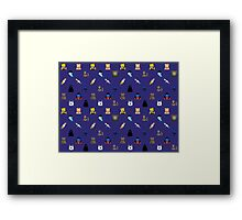 Nerd Alert - Dark Blue Framed Print