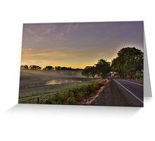 Road to Lobethal, South Australia Greeting Card