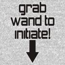Grab wand to initiate - cheeky drifter tee shirt by ManfootIN