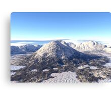 Snowy Volcano Mountain Canvas Print