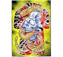 Skull 'n' snake print Photographic Print
