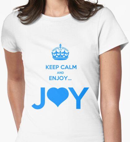 KEEP CALM & ENJOY... JOY 2 THE HEART 3  Womens Fitted T-Shirt
