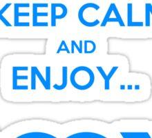 KEEP CALM & ENJOY... JOY 2 THE HEART 3  Sticker