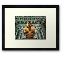 Bust of Amenhotep III - British Museum Framed Print