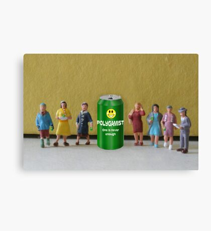 After seeing the success of Sierra Mist, Joseph invents his own soda and shares it with his wives. Canvas Print