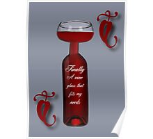 FINALLY A WINE GLASS THAT FITS MY NEEEDS>>PICTURE AND OR CARD CHEERS!! Poster