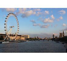 London Sunset Photographic Print